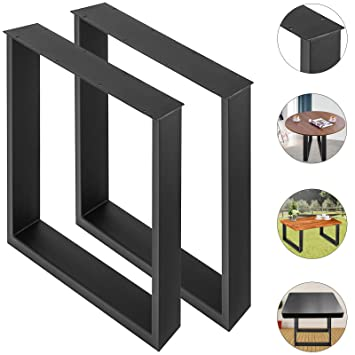 Moracle Mesa Patas en Acero 2 Patas de Mesa de Acero Patas de Mesa de Comedor/oficina/escritorio/Patas de Mesa de Bricolaje para Muebles (600 * 720MM)