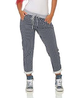 ZARMEXX Pantalon de survêtement Femme Baggy Pants Boyfriend Pantalon  décontracté à Rayures Pantalon de Sport à 5f09979424c