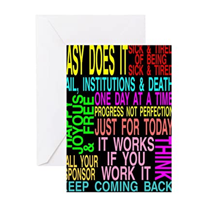 Amazon Cafepress 12 Step Slogans Greeting Card Note Card