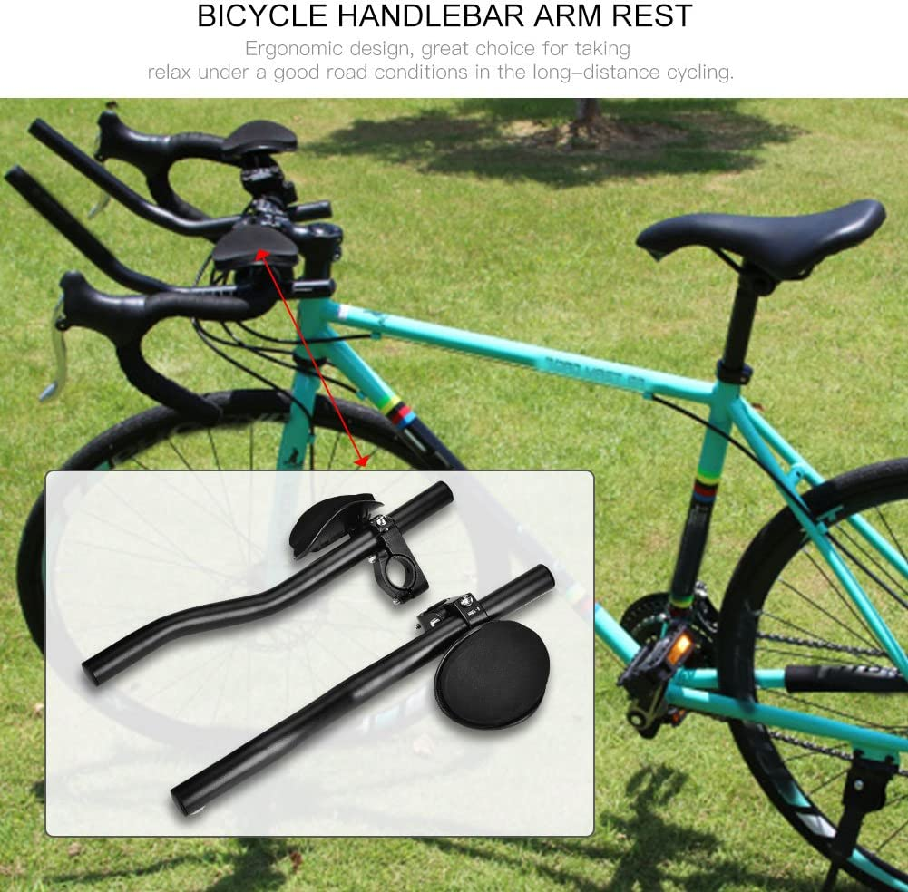 Mountain Bike Road Bicycle Clip On Arm Rest Handle Aluminium Alloy Bike Bar Handle Bicycle Accessory AYNEFY Bicycle Rest Handlebar