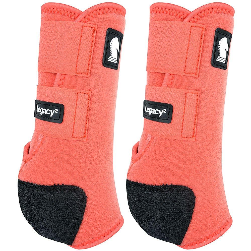 クラシックロープ会社legacy2 Hind保護用ブーツ2パックMコーラル   B0792DDJZF