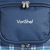 VonShef 4 Person Outdoor Picnic Backpack Bag Set
