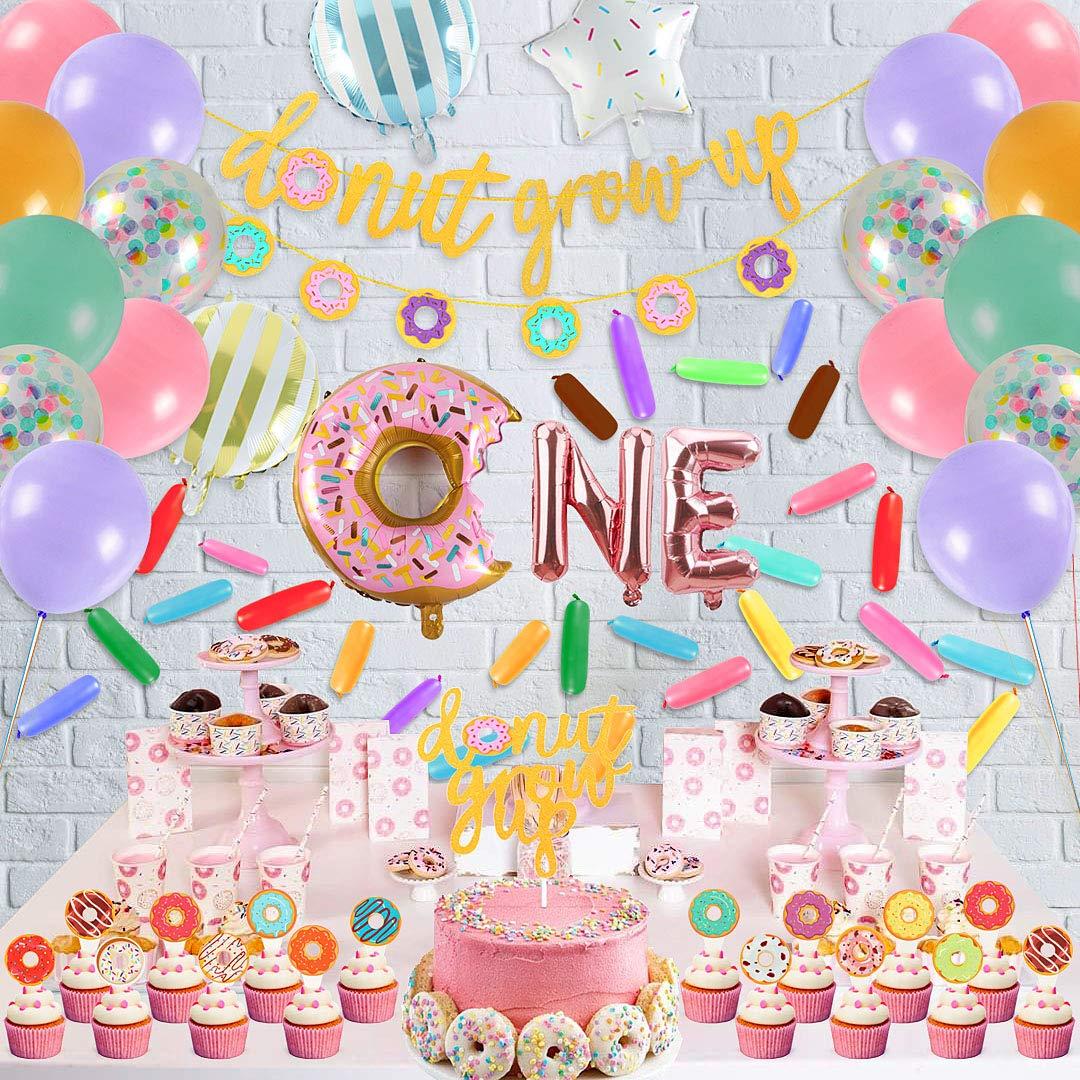 Golray 80 Pack Donut Birthday Party Decorations Supplies Kit Donut Grow Up Party Decorations Grow Up