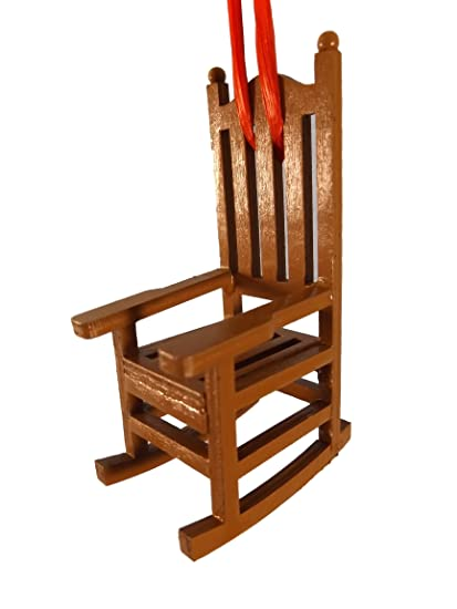 Superb Amazon Com Rocking Chair Wood Christmas Tree Ornament Home Machost Co Dining Chair Design Ideas Machostcouk