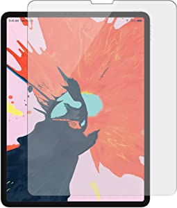 Targus Tempered Glass Screen Protector for iPad Pro 12.9-Inch (3rd gen) with High Viewing Clarity, Bubble-Free Adhesive, Impact-Resistant, Shatter-Proof, Clear (AWV144TGL)