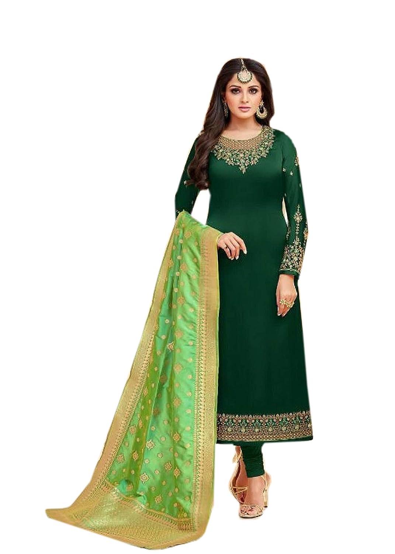 3aaca889d7b5f3 BKRKJ Women s Pure Satin Silk Fabric Unstitched Dress Material ...