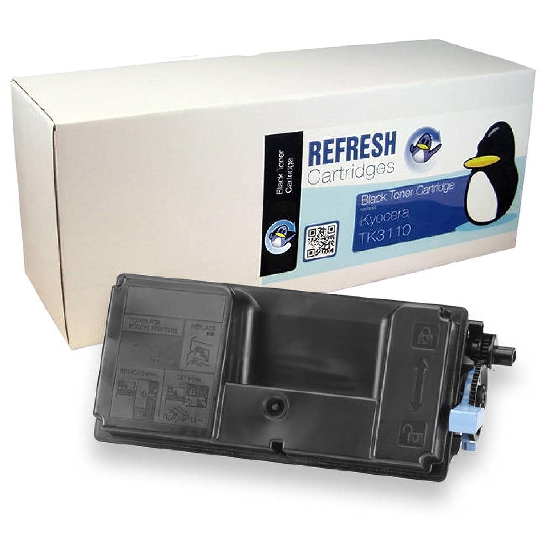 Refresh Cartridges de – Cartucho Tóner Remanufacturado de Cartridges repuesto para KYOCERA TK-3110 (negro) c910fb