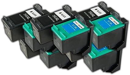 10 Cartuchos de Tinta para HP 56/57 Cartuchos de Tinta, Producto ...