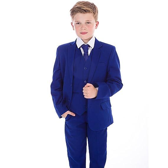Vivaki Boys Blue Suits Electric Blue Suit Navy Formal Wedding ...