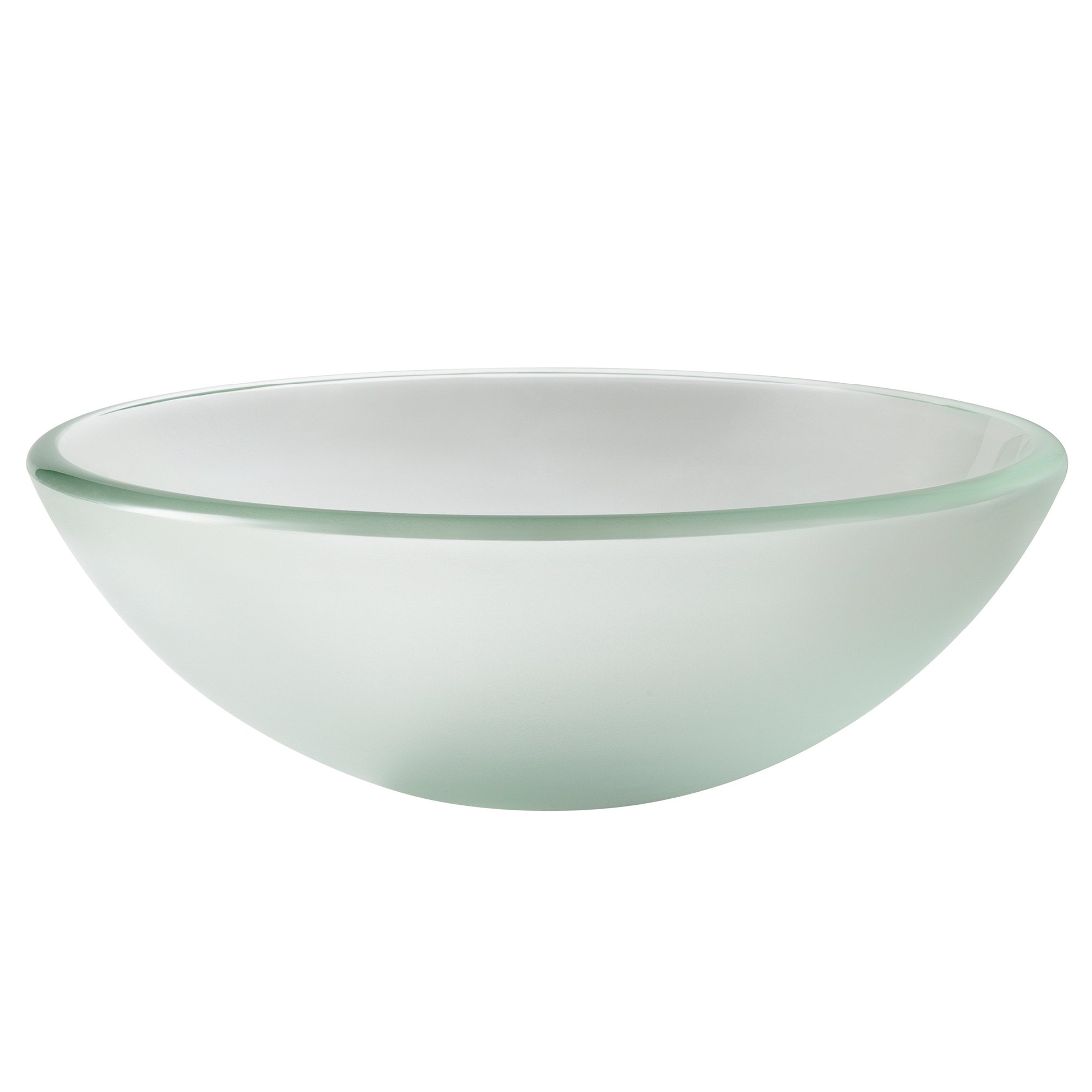 Kraus GV-101FR-14 Frosted 14 inch Glass Vessel Bathroom Sink by Kraus