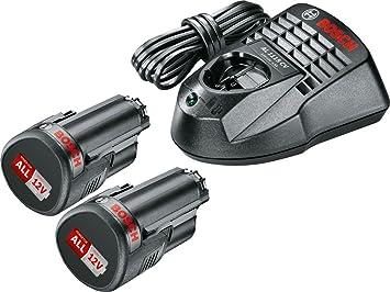 Bosch 2 bater/ías, sistema de 12 V, en caja Pack de bater/ía y cargador