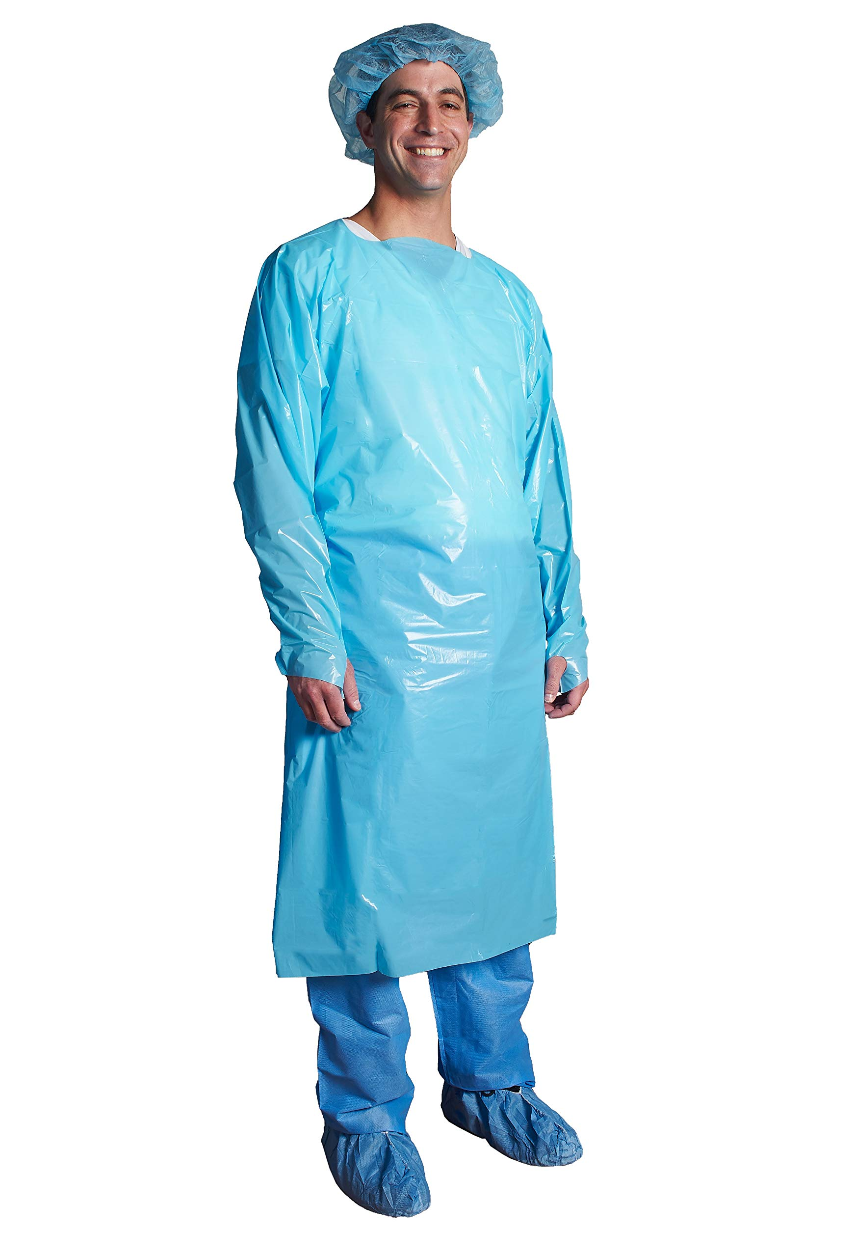 Disposable Isolation Gown, Over the Head, Thumb loop- ASP Medical (2XL)