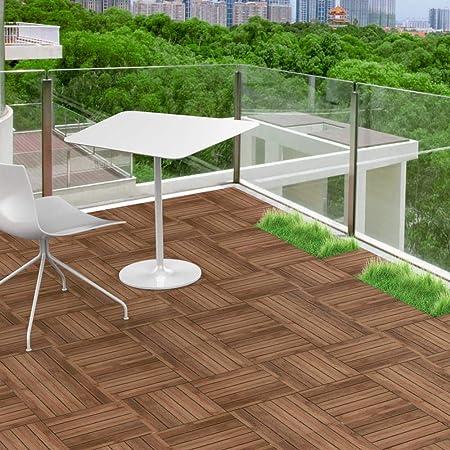 Amazon Com Topeakmart 12 X 12in Wood Floor Tiles Deck Patio