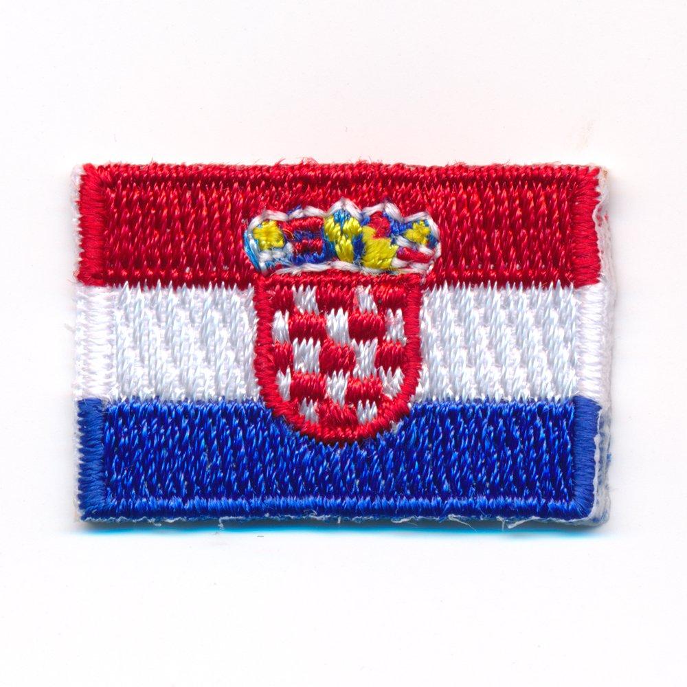 60/x 35/mm Drapeau de la Croatie Zagreb /Écusson thermocollant patch 0917/B
