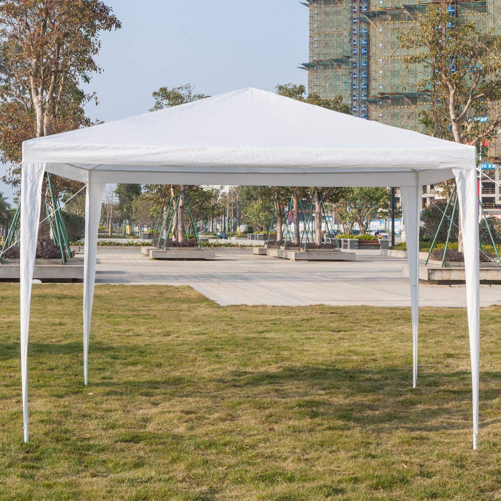 Outdoor Tent Portable Lightweight Party Wedding Park Canopy Gazebo Shelter Tent Picnic Table Canopy Beach Canopy Sun Shelter 9.8 X 9.8 ft