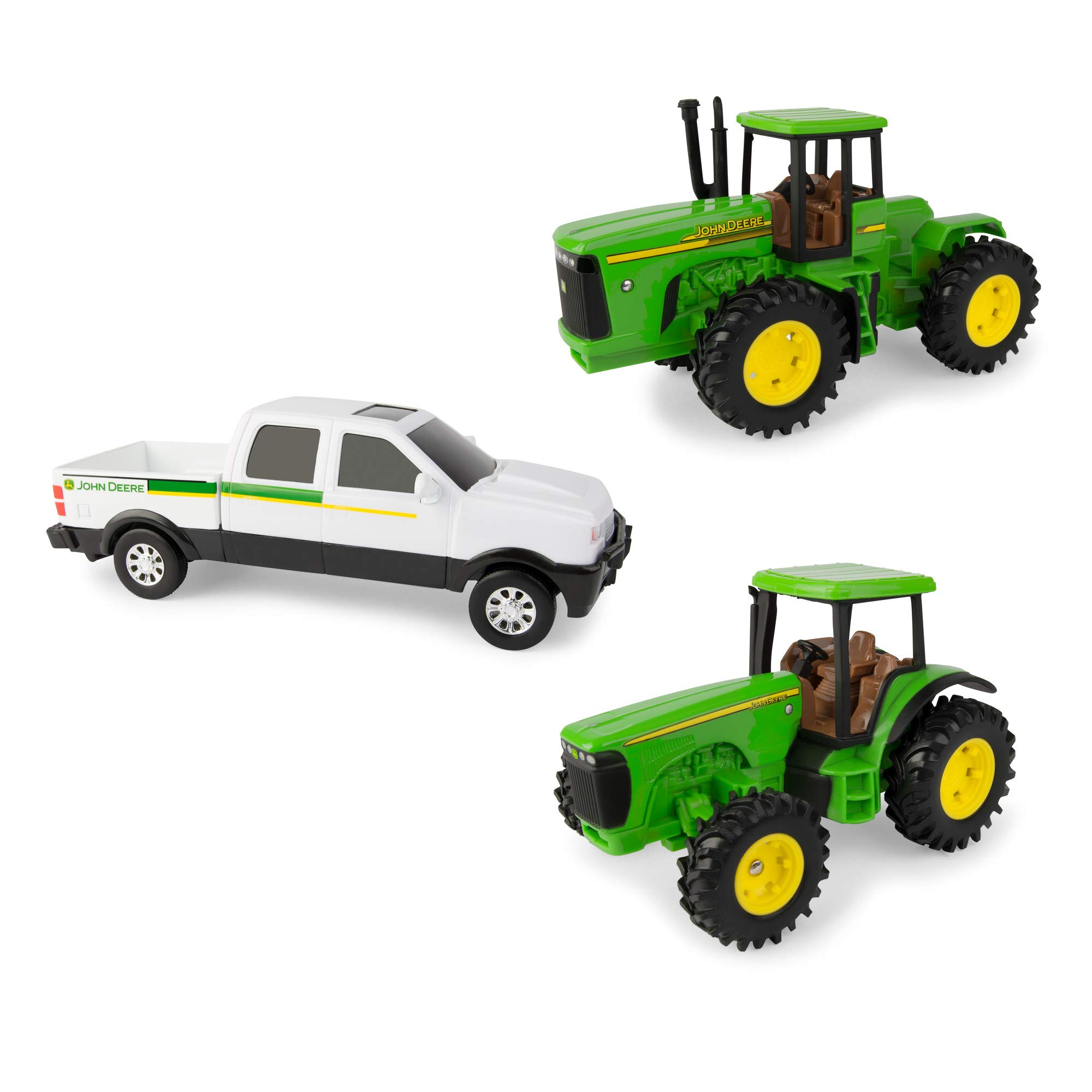 ERTL John Deere Toy Truck & Toy Tractor Farm Toy Vehicle Value Set (Pack of 3)