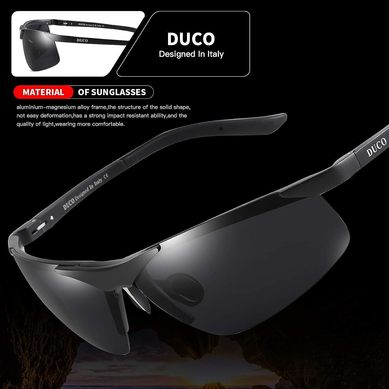 e59c426bb1 Duco Men s Sports Style Polarized Sunglasses Driver Glasses 6806S (Black)   Amazon.ca  Clothing   Accessories
