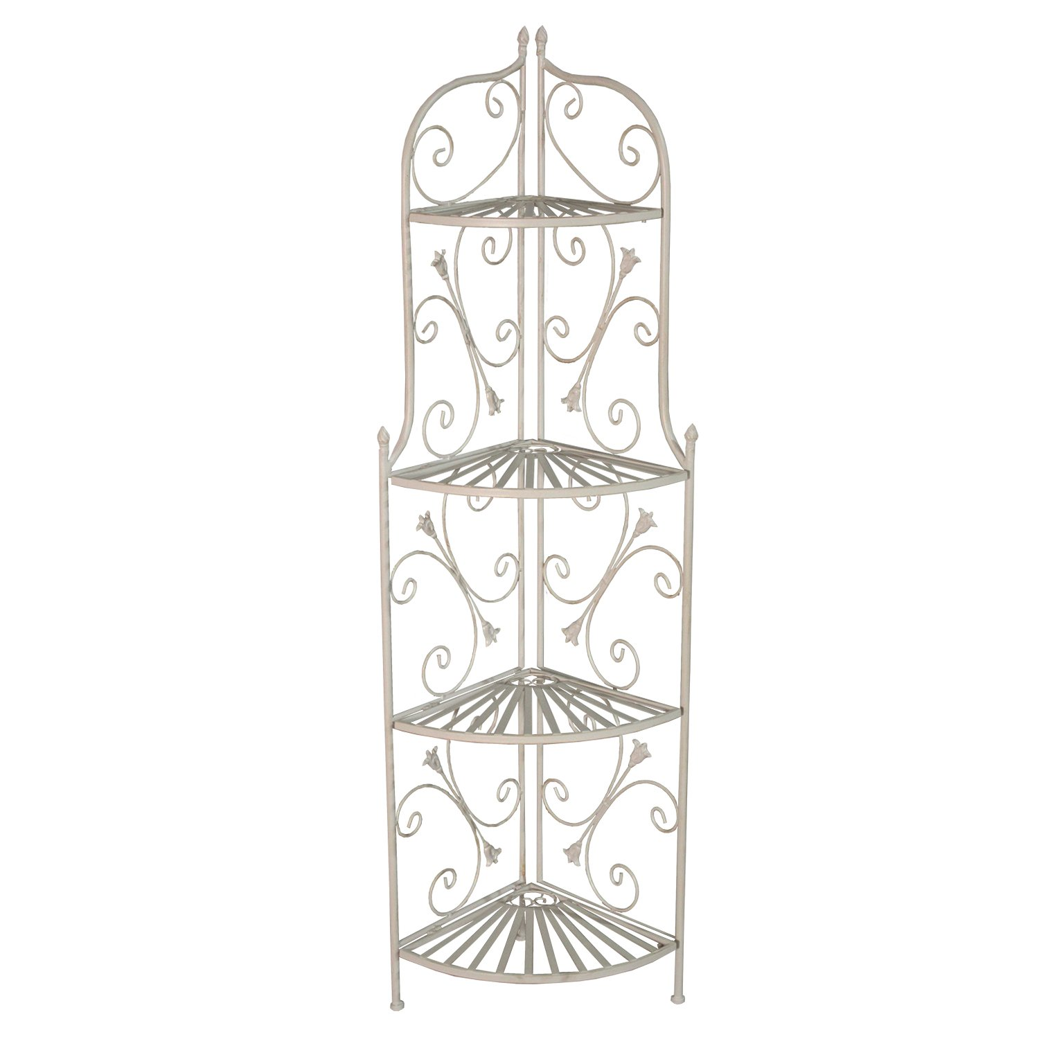 Oakland Living AZ17247-C-SHELF-AC Bakers Rack Corner Shelf, Antique Cream by Oakland Living