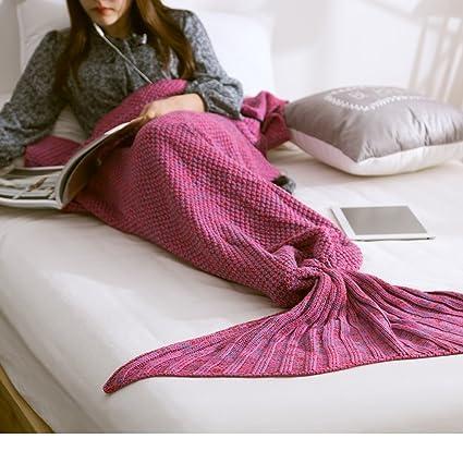 Cola de sirena manta, suave y cálido edredón, saco de dormir para todas las