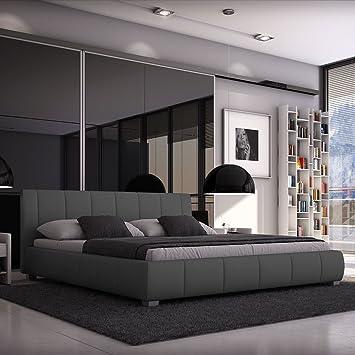 Großartig Luna Polsterbett 140x200 Cm Doppelbett / Bett / Designerbett / Kunstleder  Grau