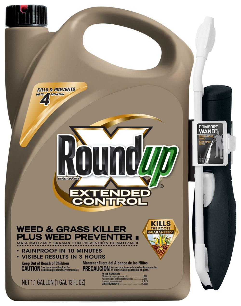 RoundUp Extended Control Weed and Grass Killer Plus Weed Preventer II RTU Comfort Wand Sprayer (Case of 4) by Roundup (Image #1)