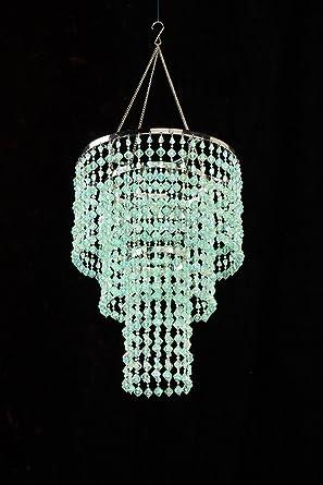 Green mint chandelier retro beaded light hanging lamp hll14 gm green mint chandelier retro beaded light hanging lamp hll14 gm aloadofball Gallery