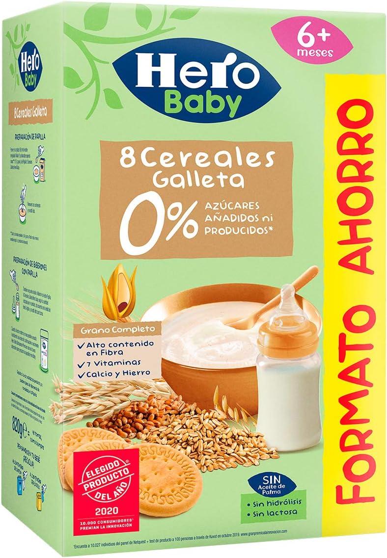 Hero Baby Pap 8 Cereales Galleta Hb Est - 820 gr: Amazon.es: Alimentación y bebidas