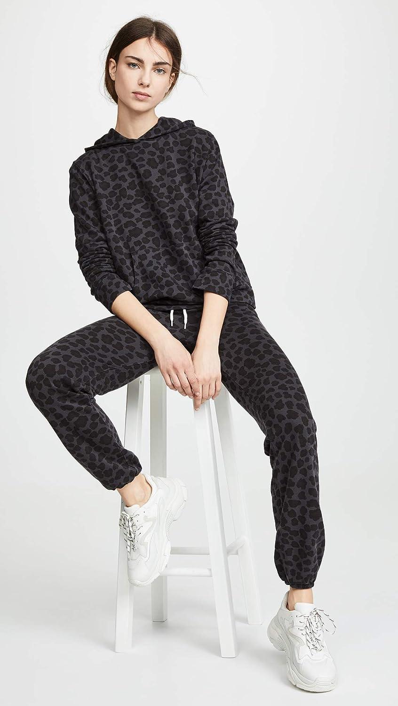 Monrow Womens Leopard Vintage Sweats
