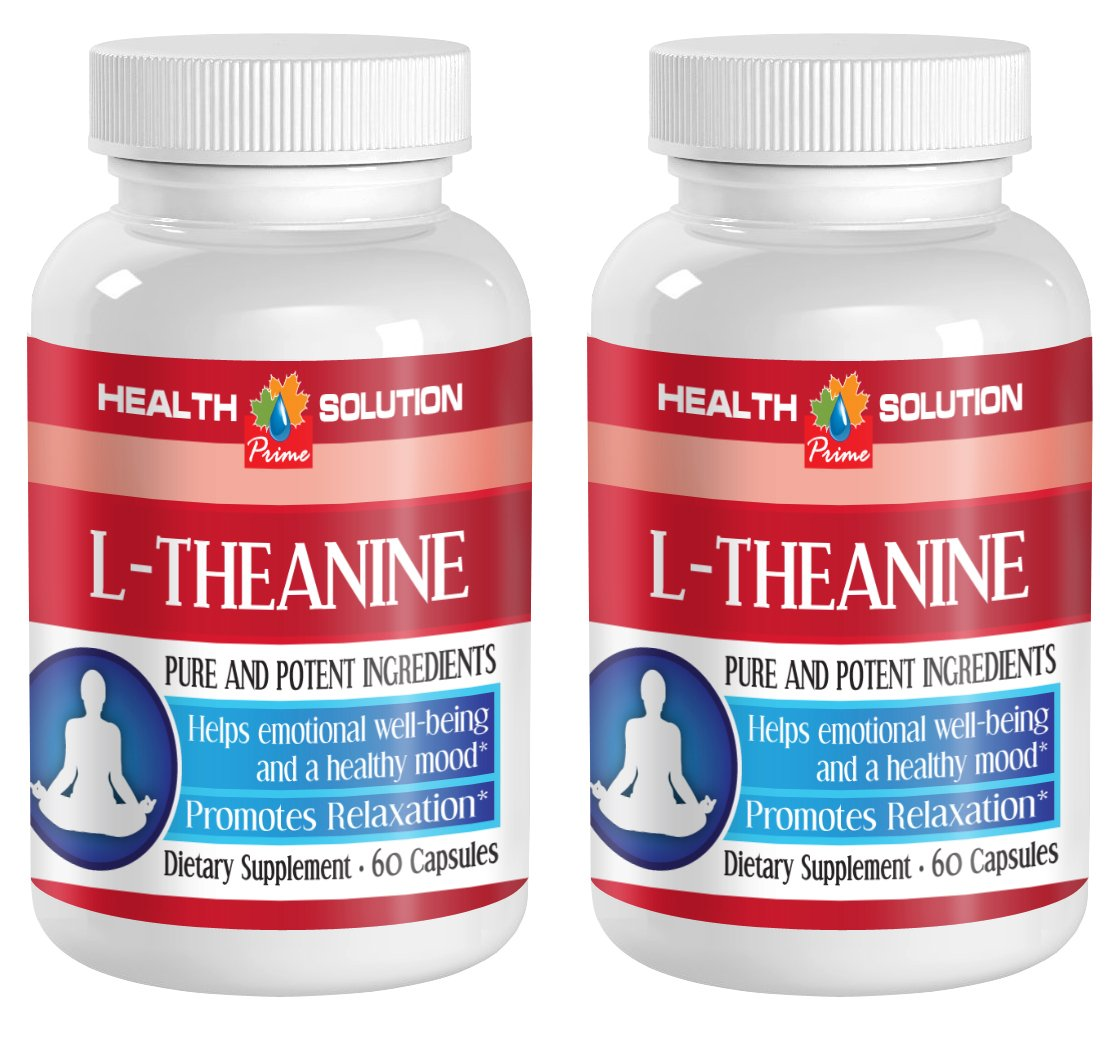 Sleeping aids for Adults - L-Theanine 200MG - Promotes Relaxation - antioxidant Gel Capsules - 2 Bottles (120 Capsules)