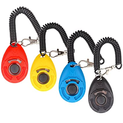 Dog Clicker, [4 Unidades, Diyife Training Clicker con Trageschlaufe para Perro, Gato