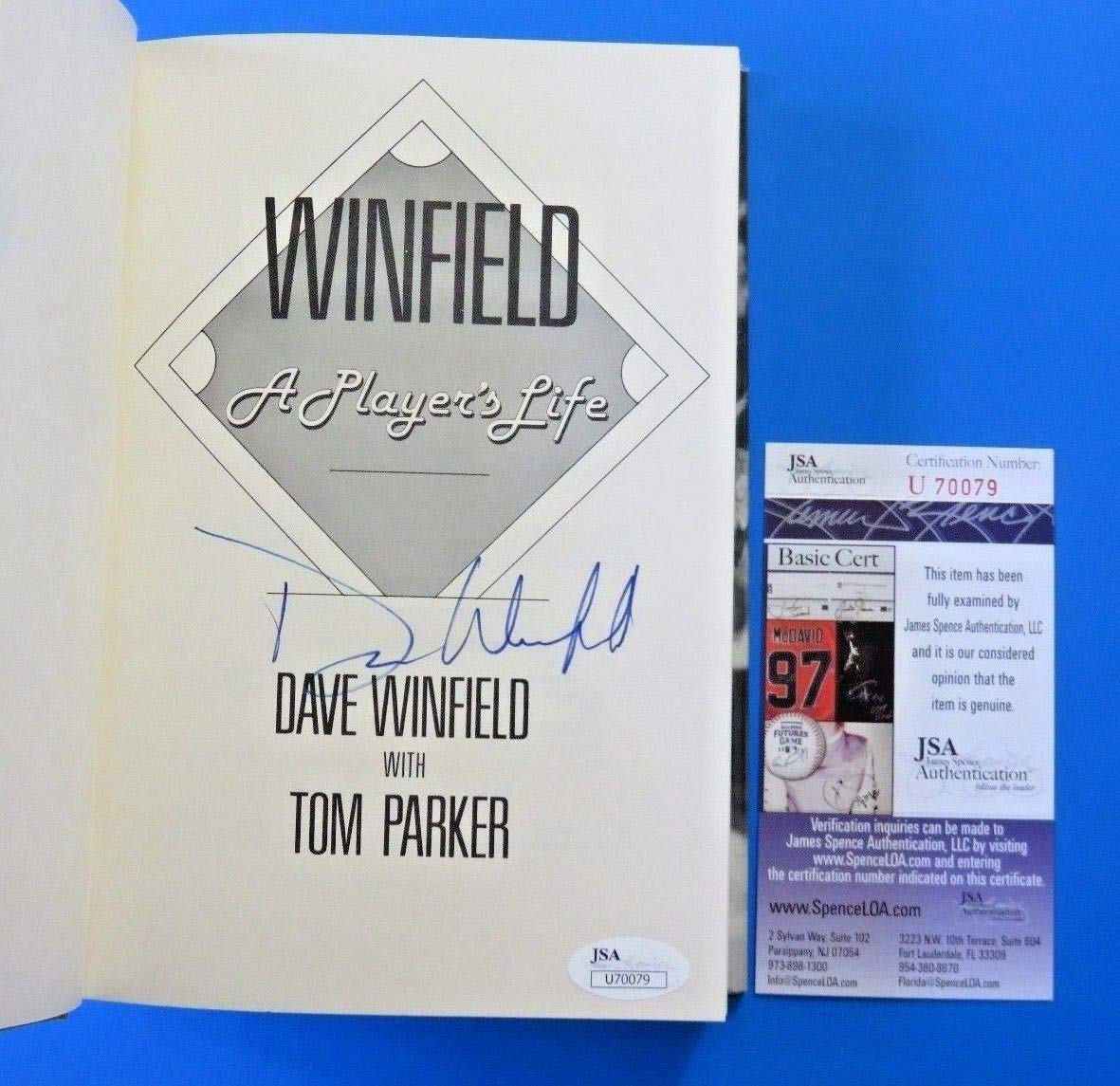 Dave Winfield Autographed Signed Book A Players Life Ny Yankees JSA Authentic U70079