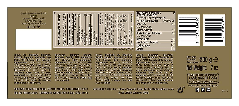 Turrón De Chocolate Crujiente 1880 200G: Amazon.es: Alimentación y bebidas