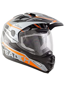 Stealth Casco Enduro Mx 2017 All Adventure Hd009 Xc1 Gris-Negro-Anaranjado (L