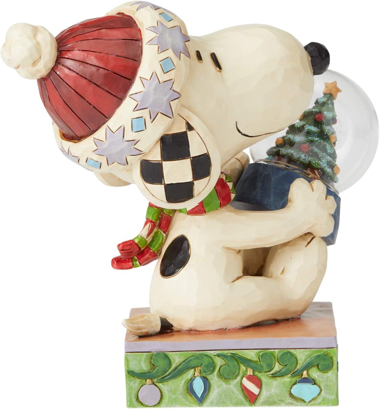 Multicolor Enesco Peanuts by Jim Shore Snoopy Holding Figurine 5.25 Inch