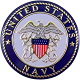 United States Navy Military Metal Auto Decal Emblem, 2 Inch