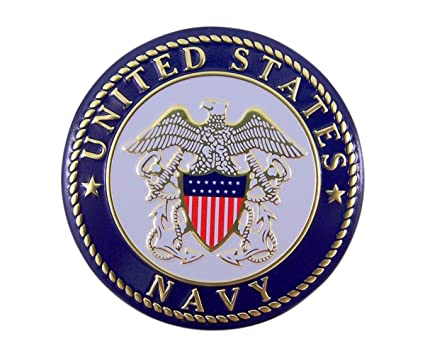 Amazon United States Navy Military Metal Auto Decal Emblem 2