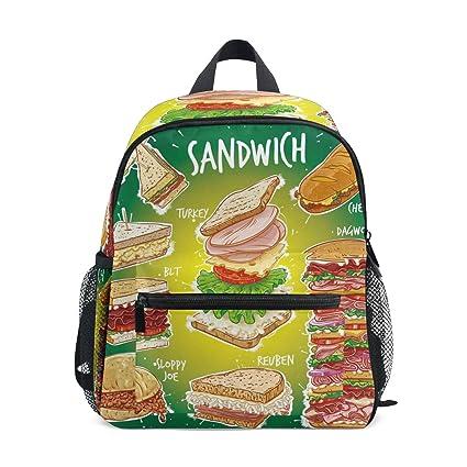Sandwich Hamburguesa Mochila de Comida de Dibujos Animados ...