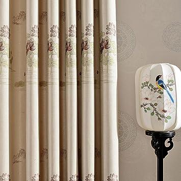 Verdunklungsvorhänge U0026 Drapes Tuch Fenster Behandlungen Fertige Produkt  Schlafzimmer Living Room Modern American Style Ländlichen Floating