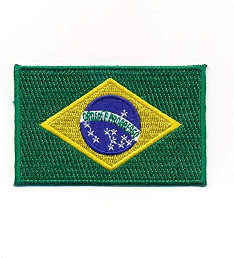 Hegibaer 60 X 35 Mm Brasilien Flagge Brasil Brasilia Flag Rio Aufnäher Aufbügler 0937 B Auto