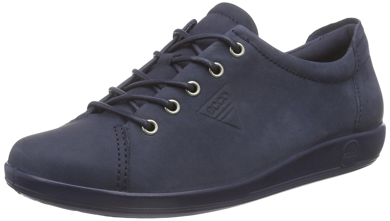 Ecco Soft 2.0, Zapatos de Cordones Derby para Mujer 39 EU|Azul (Marine2038)