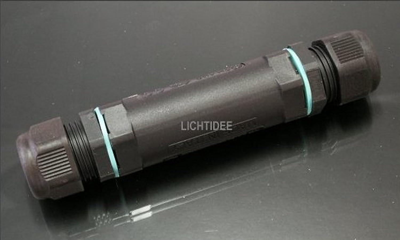 3-poliger Verbinder für Erdkabel wasserdicht IP68: Amazon.de: Garten