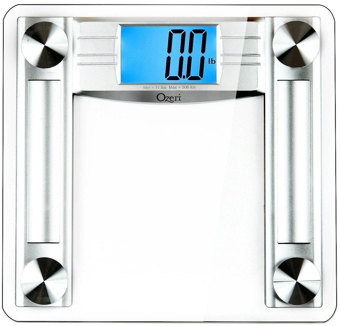 Ozeri ProMax 500 lbs (230 kg) Digital Bath Scale, with Body Tape Measure & Fat Caliper Ozeri Health ZB22