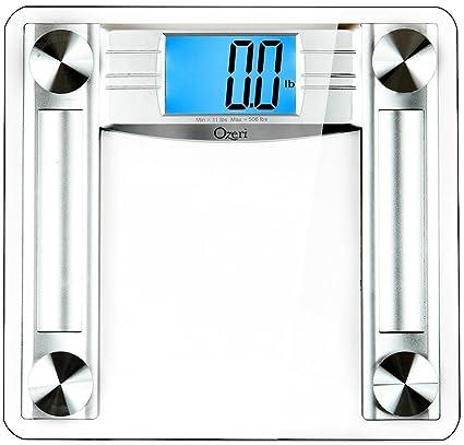 Báscula digital de baño Ozeri ProMax 230 kg, con cinta métrica y calibrador de grasa