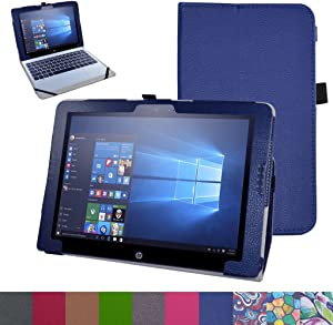 HP Pavilion X2 12 Case,Mama Mouth PU Leather Folio 2-Folding Stand Cover for 12