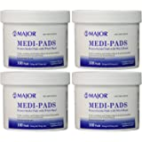 Medi-Pads With Witch Hazel Hemorrhoidal 100 Ct Jar(4 Pack)