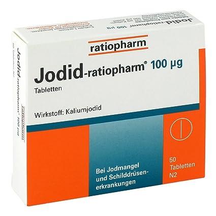 Yoduro ratiopharm 100 [my] G tabletas 50 unidades