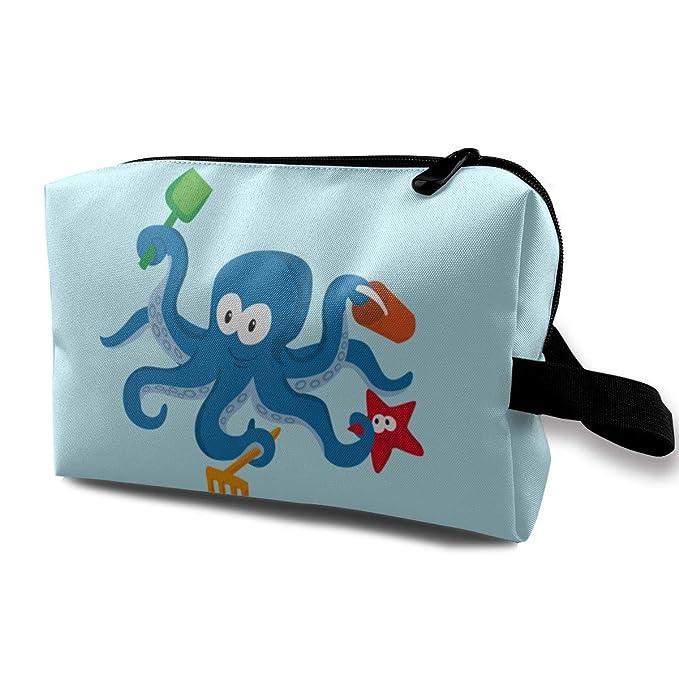 aba0b05af332 Amazon.com  Blue-octopus Travelling Makeup Handbag Cosmetic Bag ...