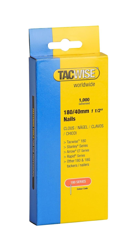 Set Piezas 20 mm Tacwise 0360 Clavos de 180 x 20 mm caja de 1000 unidades