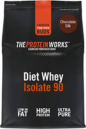 Proteína Whey Diet Isolate 90 | Sabor chocolate | 1 kg de Aislado de proteína Whey