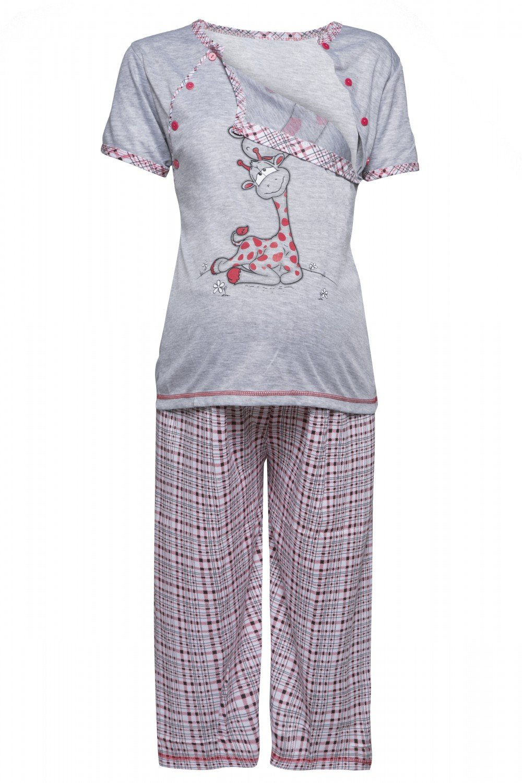 HAPPY MAMA. Womens Maternity Top T-shirt Breastfeeding Pyjamas Crop Pants. 173p pregnight_173